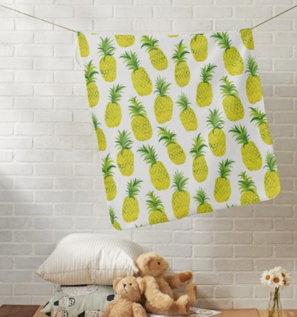 pineapple party baby blanket