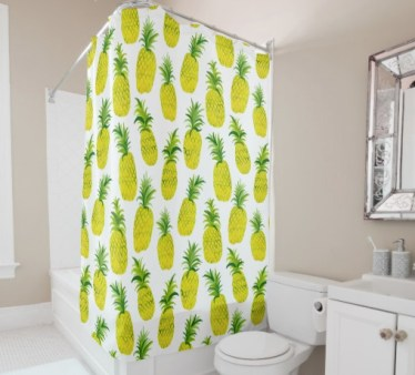 pineapple shower curtain by Shoshannah Scribbles on Zazzle