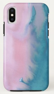 pink teal phone Z