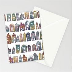 rainbow houses card