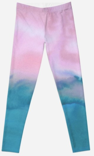 watercolor leggings RB