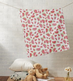 watermelon pattern blanket Z