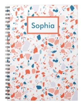 terrazzo blue notebook Z