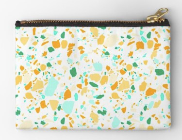 terrazzo green pouch RB