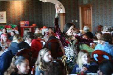 Dancing for kids at the famous Carson Mansion, Eureka