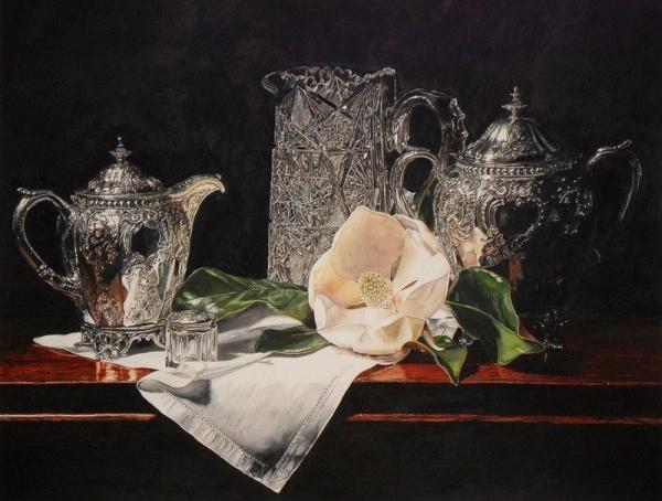 """""""Cristal, argint si floare de magnolia"""", Laurin McCracken"""