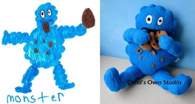 Jucării realizate dupa desenele copiilor