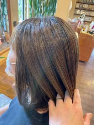 【奈良 広陵・大和高田】初めてのハイライトも安心!馴染ませハイライトで髪の毛の透明感UPと色持ちしやすくできる
