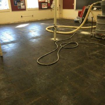 carpet tile mastic removal shot