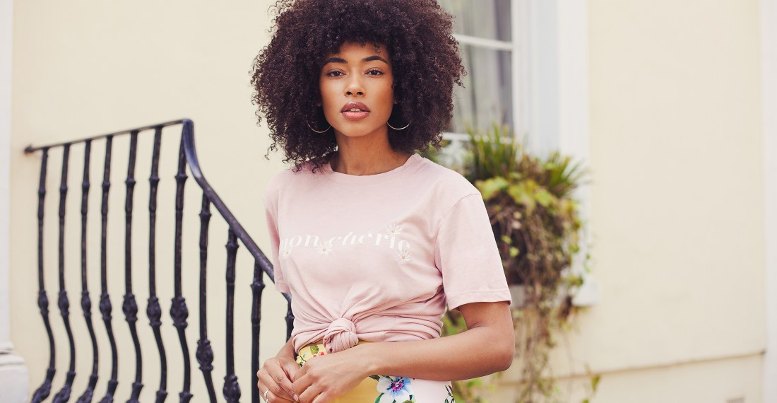 Lesley mixed race fashion blogger shoot in Notting Hill by Ailera Stone