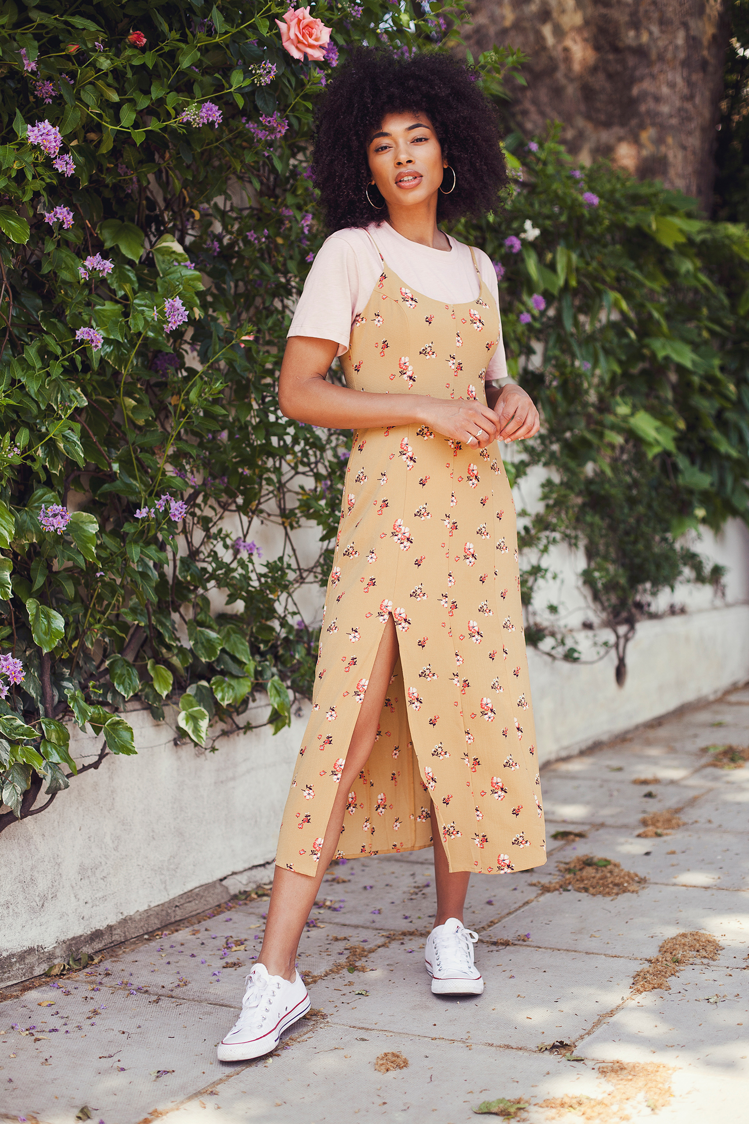 Lesley mixed race blogger fashion shoot in Notting Hill by Ailera Stone