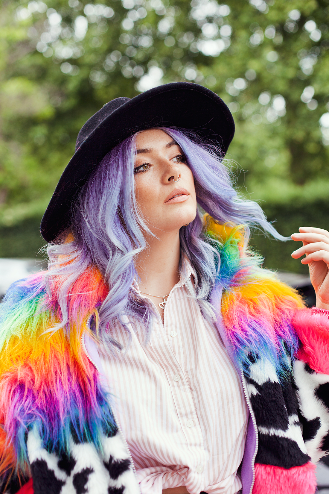 pastel hair portrait of blogger Georgie Philippa by Ailera Stone