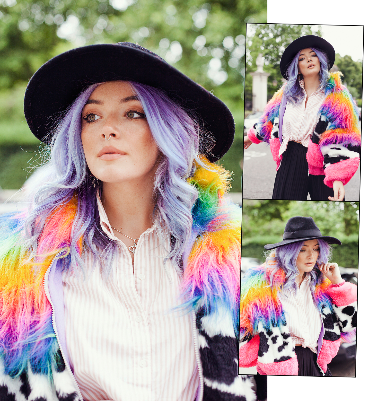 pastel hair blogger fashion photoshoot with Georgie Philippa by Ailera Stone