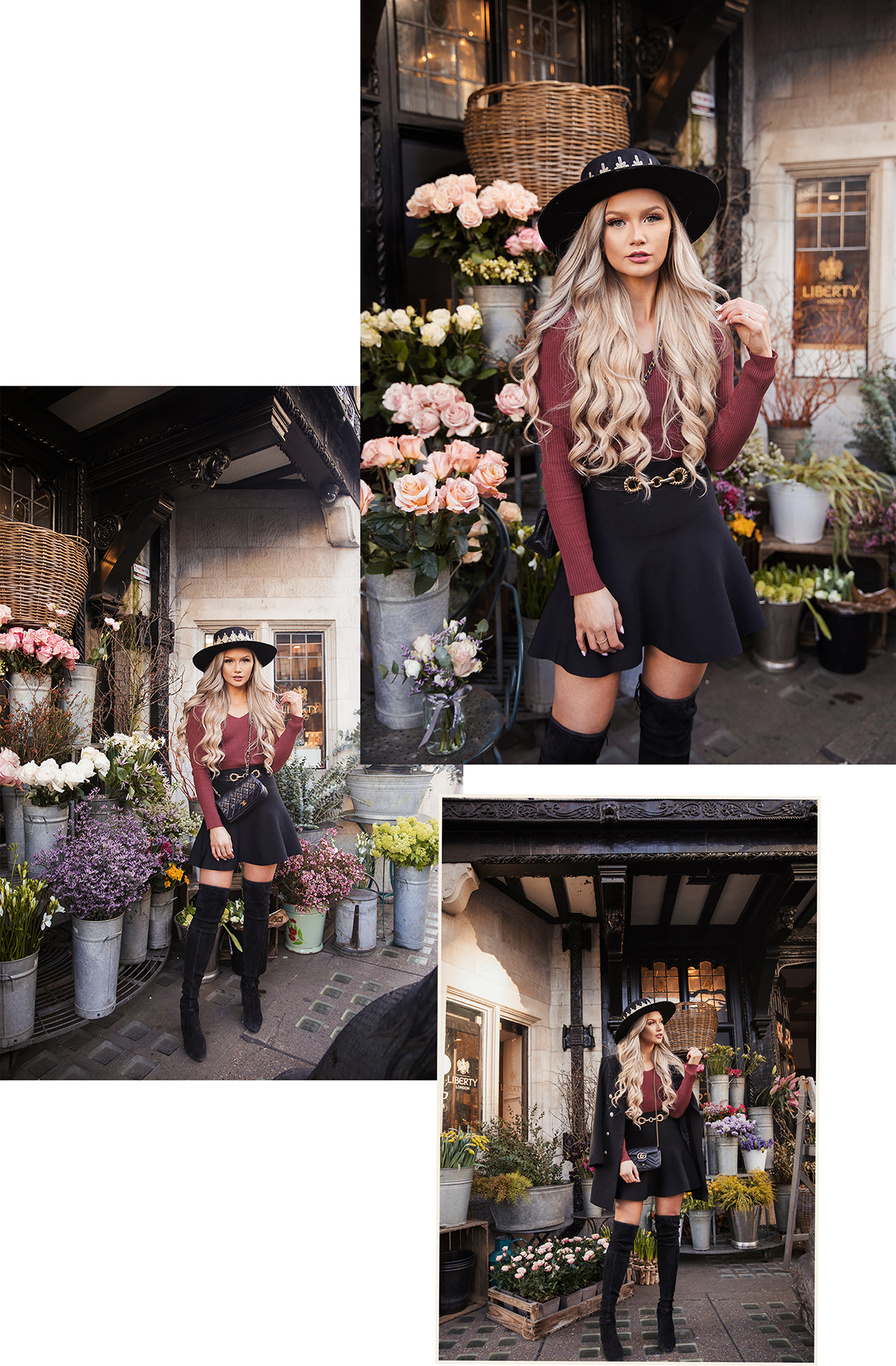fashion blogger Stephanie Danielle photoshoot in Liberty by London fashion photographer Ailera Stone