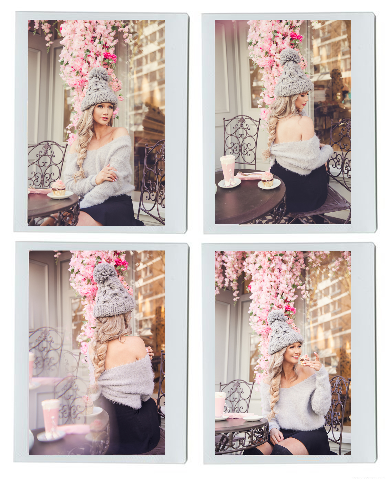 4 polaroids of fashion blogger Stephanie Danielle by London fashion photographer Ailera Stone