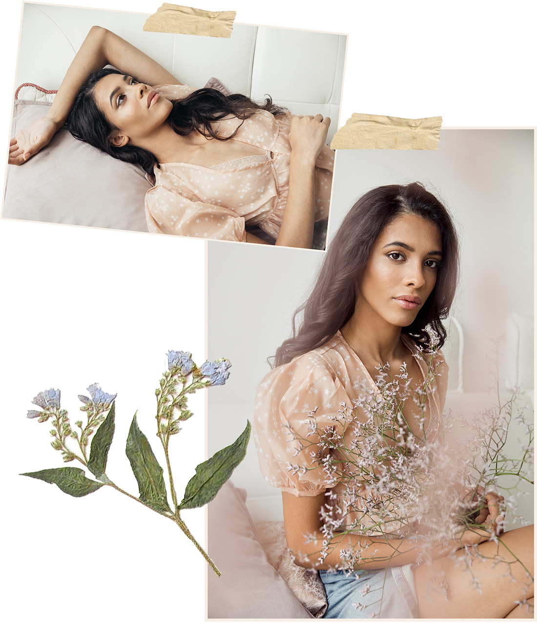 Soft dreamy model collage of Beatriz @ PRM agency by Ailera Stone