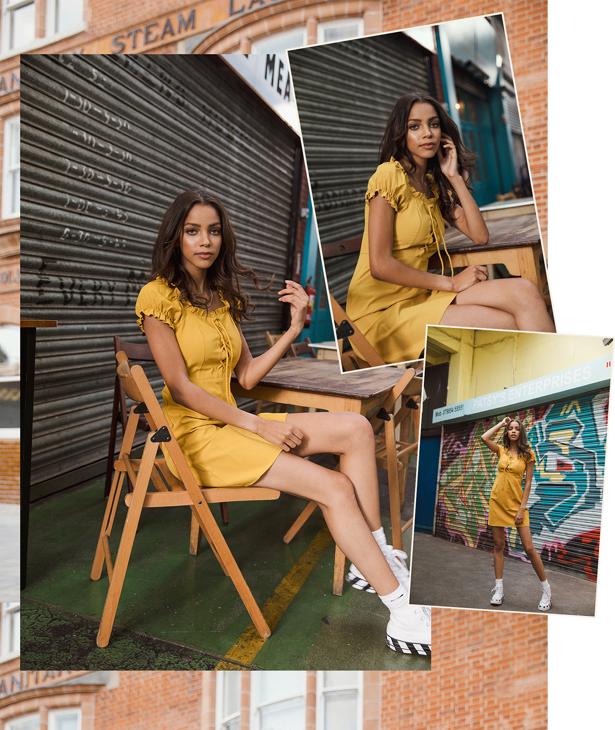 Melody @ The Squad fashion shoot in Brixton market by London photographer Ailera Stone