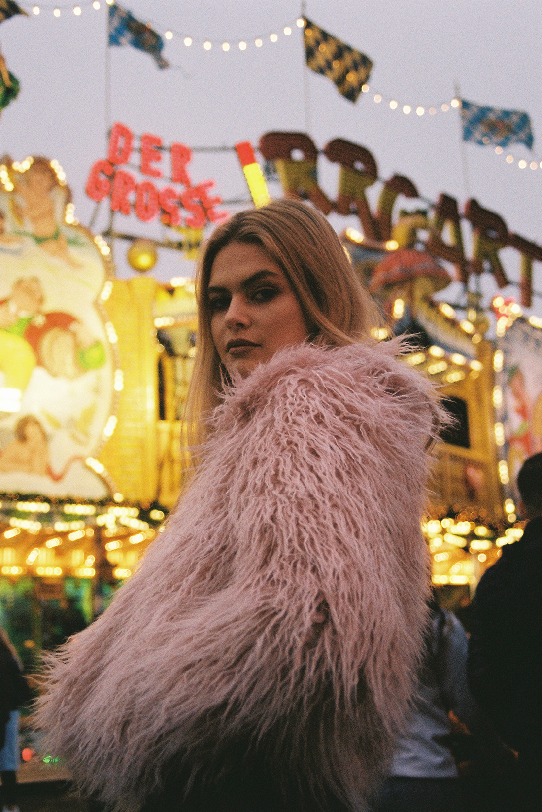 35mm film test portrait in Winter Wonderland with Manon @ The Squad by London photographer Ailera Stone (Aistė Tiriūtė)