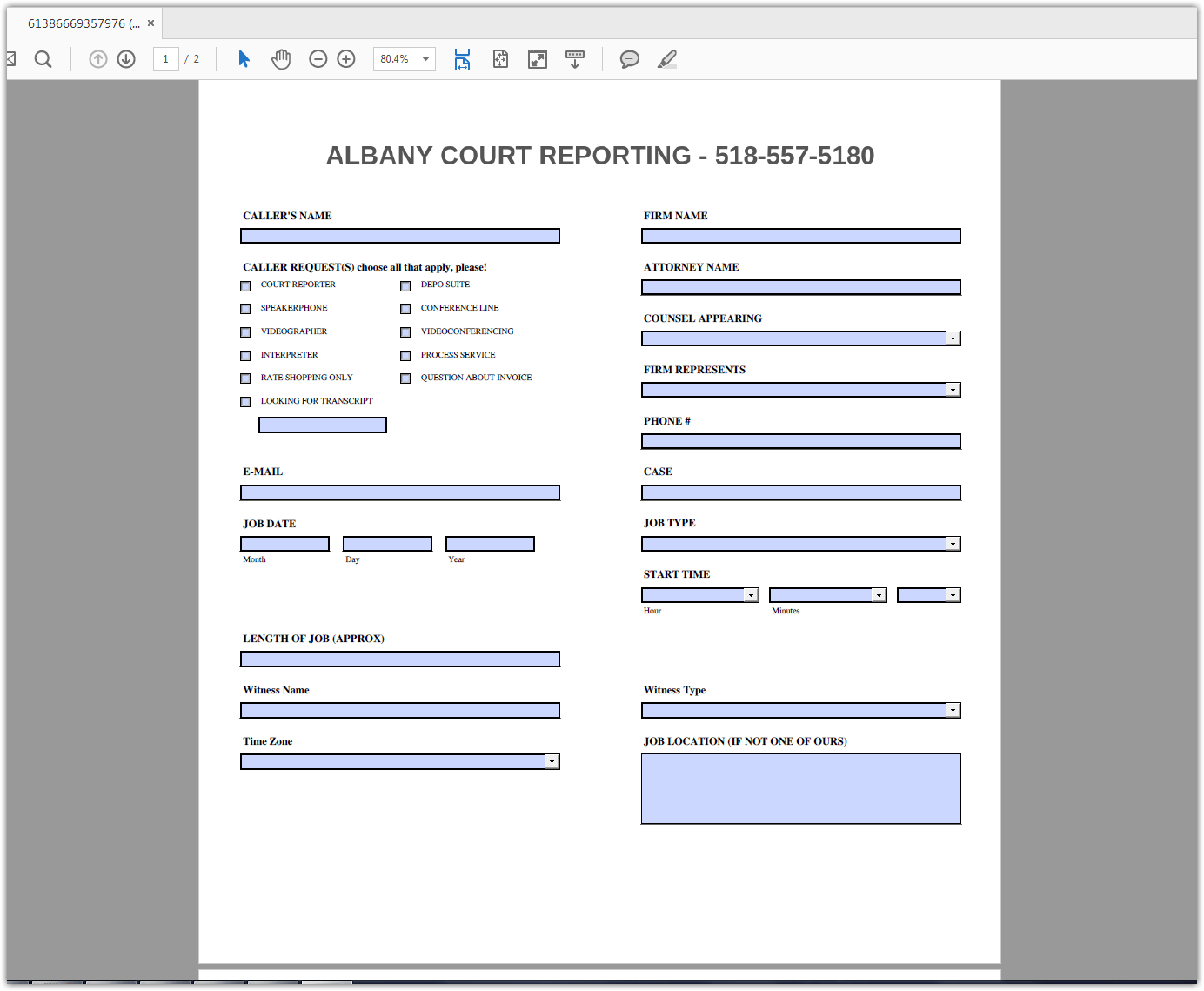 Fillable Unable To Submit Form
