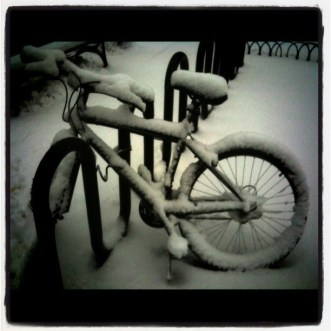 Snow white's bicycle #photo
