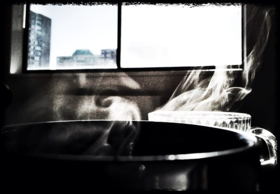 1 more cup of coffee before I go, to face the cold below #iphoneography #photography