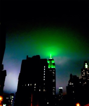 Earth night, the green of the empire state spreading in to the #NYC sky #iphoneography #photography