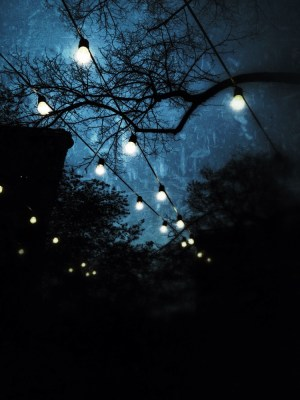 When electric bulbs compete with the stars above #iphoneography #photography #nyc