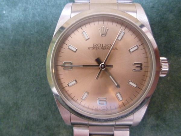 ROLEX オイスターパーペチュアル ブランド時計、お買取りさせていただきました!笑福筑後店