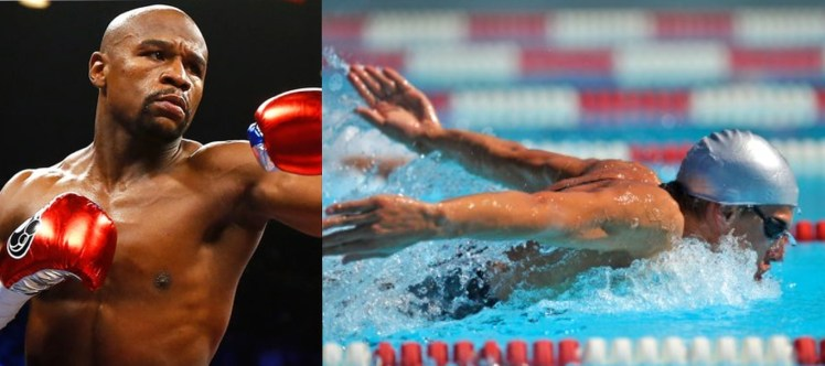 Boxing and swimming