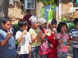 refugee children hygene training