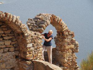 Castle arch twin islands lake bafa