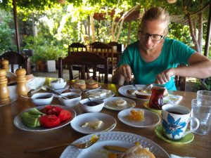 Turkish breakfast lake bafa
