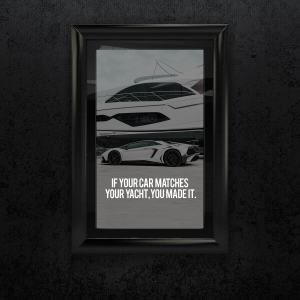 Luxury Lifestyle A3 Print – Yacht quote