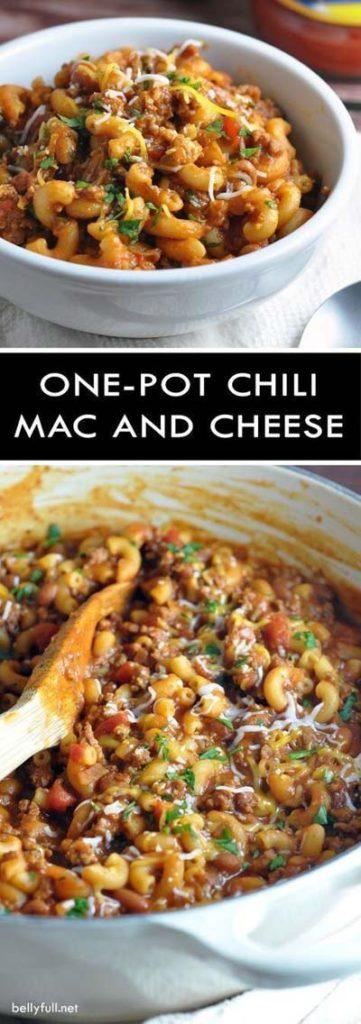 Mac And Cheese Recipes: One-Pot Chili Mac & Cheese