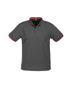 Mens Jet Polo P226MS Steel Grey and Red