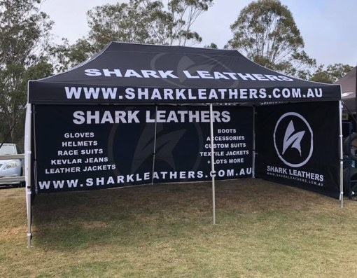 Shark Leathers 6x3 Custom Printed Marquee with walls