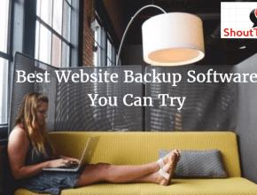 Website backup software
