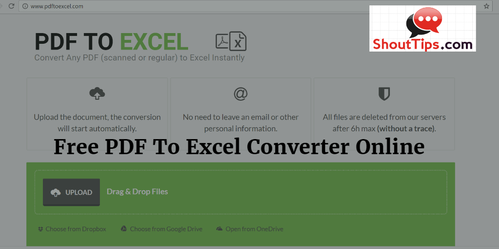 Free PDF To Excel Converter Online Tool Review