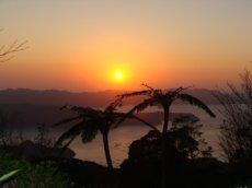 奄美大島南部・油井岳展望台での夕日