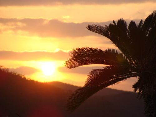 奄美大島南部・油井岳園地(油井岳展望台)からの夕日