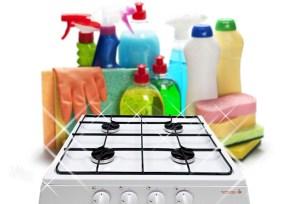 как очистить плиту от жира и нагара в домашних условиях