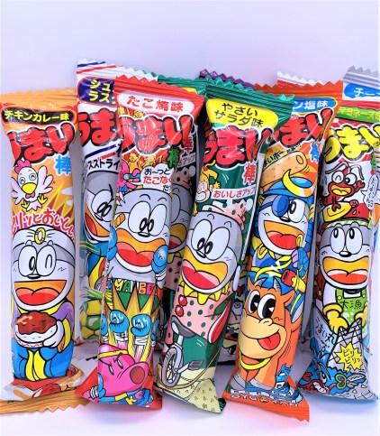 やおきん うまい棒 懐かしいお菓子 日本の駄菓子 japanese-penny-candy-yaokin-umaibou