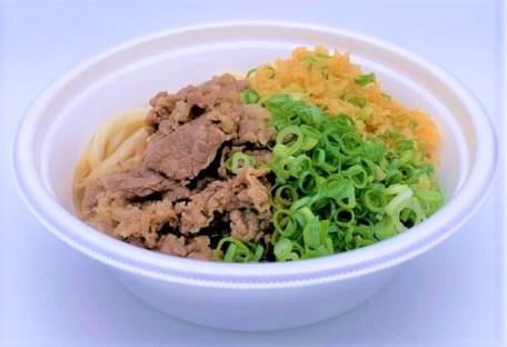 丸亀製麺 肉うどん 温 並 かけうどん 牛肉 テイクアウト 2020 japanese-fast-food-marugame-seimen-niku-udon-noodles-topped-with-beef-2020-to-go