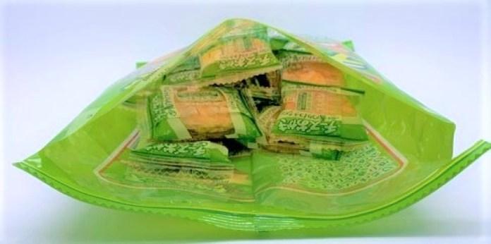 ブルボン チーズおかき 青のりわさび味 辛口 緑色の袋 お菓子 2021 japanese-snacks-bourbon-cheese-okaki-wasabi-flavor-spicy-2021