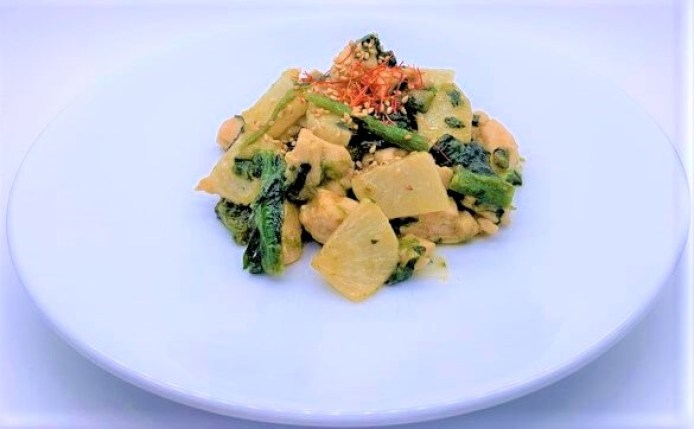 そうざいの素 ハウス食品 ごはんがうまい 大根炒め 濃厚ごまみそ風味 4人前 2021 japanese-sauce-mix-housefoods-gohangaumai-daikon-itame-homemade-15-2021