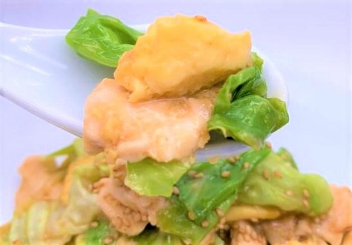 味の素 クックドゥ きょうの大皿 とろ卵 豚キャベツ 海鮮うま塩炒め 2021 japanese-sauce-mix-ajinomoto-cookdo-ozara-65-toro-tamago-buta-kyabetsu-homemade-27-2021