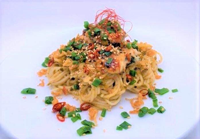 ニップン オーマイ 和パスタ好きのための高菜 ごま油と炒め高菜の香ばしい味わい 2021 japanese-pasta-sauce-nippn-ohmy-wapasta-takana-homemade-28-2021