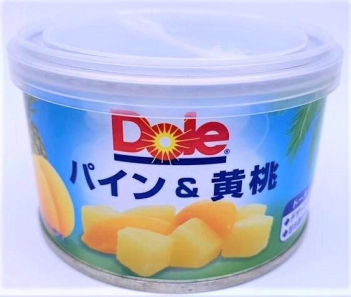 ドール パイン&黄桃 フルーツ デザート 缶詰 防災備蓄品 食料 2021 canned-food-dole-japan-pine-and-peach-fruit-dessert-2021