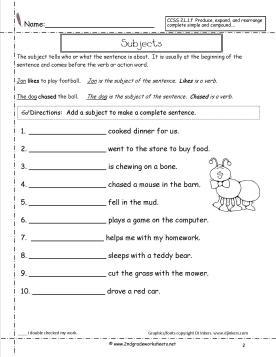subjectworksheet2