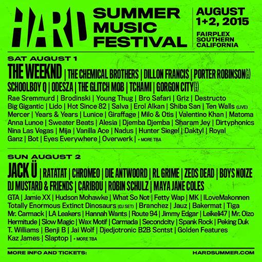 2015 HARD Summer lineup